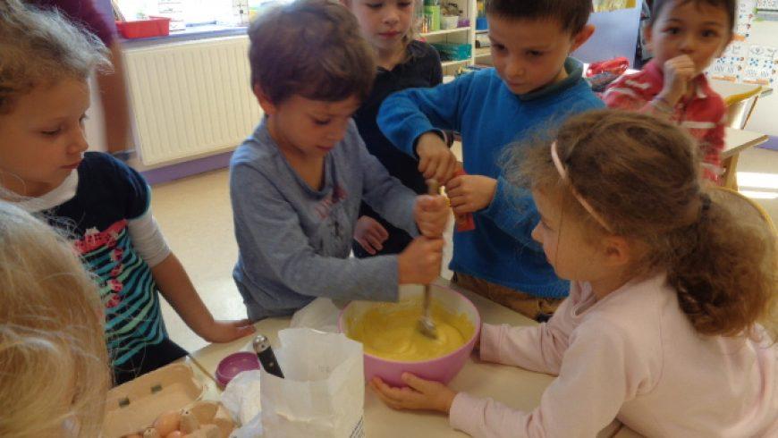 Cuisine en GS/CP : le gâteau aux raisins