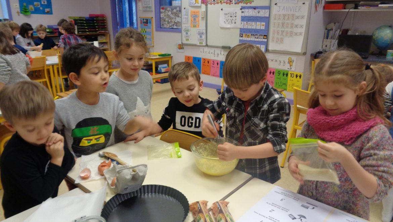 atelier cuisine n°3 pour la classe de GS/CP