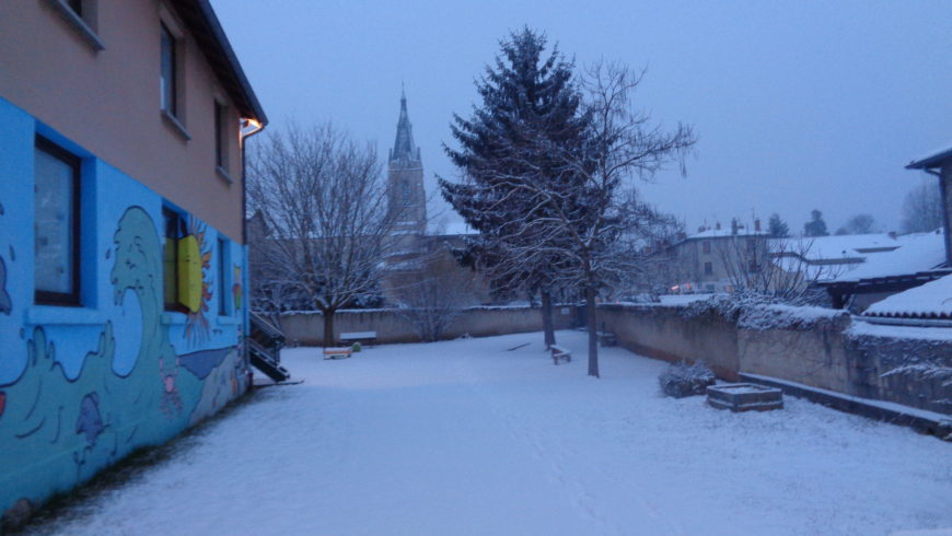 Jeudi 1er mars :  L'école sous la neige !