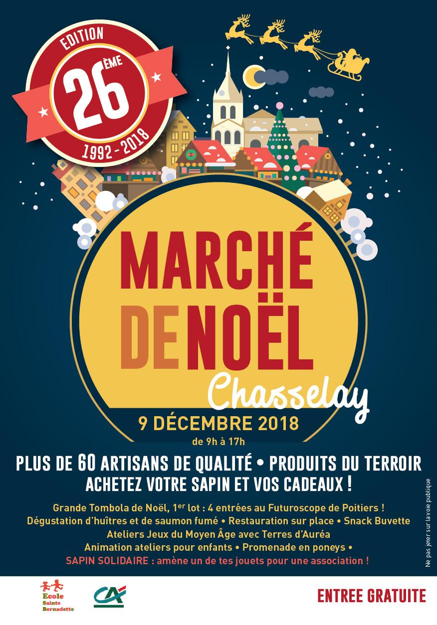 Dimanche 9 décembre, Marché de Noël !