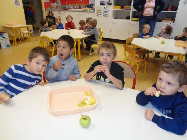 semaine du goût : les pommes de Chasselay